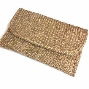 Vintage 70s Straw Clutch Bag